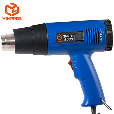 Manufactuer Wholesale Power Tools Industrial Temperature Adjustable Digital Display Heat Gun Welding Gun 1800W SI-8611