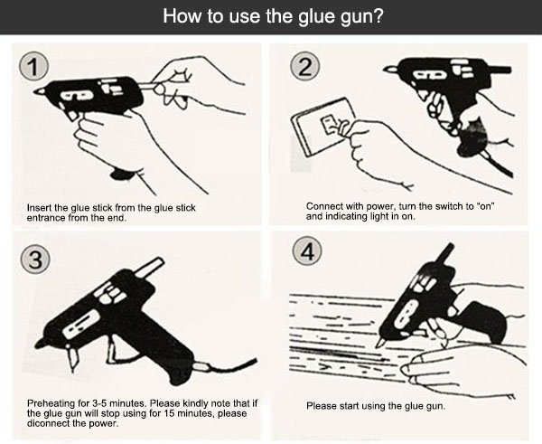 Glue gun use